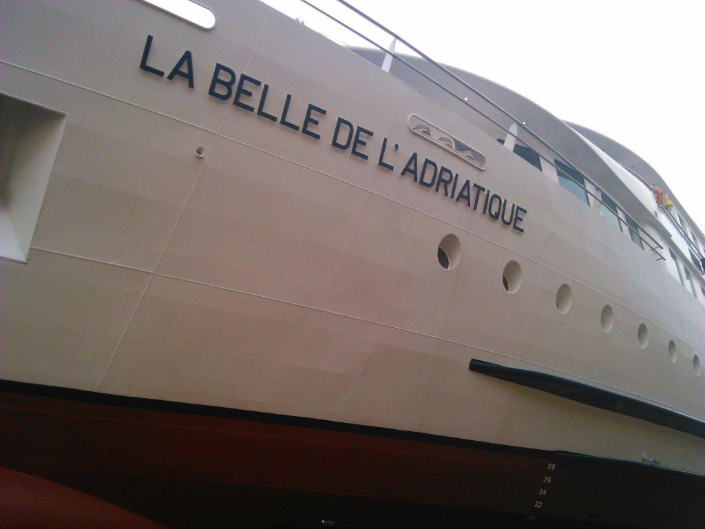 The La Belle De Lu0026#39;Adriatique Cruise Ship Enters Port