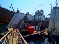 Crna rijeka floating dredge serviced in small Dock 4
