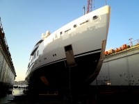 First yachts under repair after summer cruises