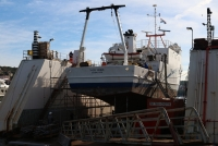 Naše More -Training and Research Ship Sails In for Annual Inspection