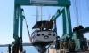 Marina Trogir's servicing platform occupied by yachts and sailing boats