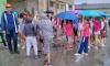 The clamour of children fills the Trogir shipyard