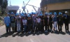French high-school students visit the shipyard