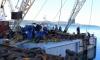 Jadrolinija ferry Mljet and shipyard crane Fumija at the regular annual general overhaul