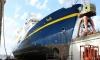 Cruise Ship Monet Sails into Large Dock