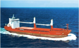 Multi-purpose dry cargo ship of 9 800 dwt